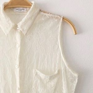 Lace Equipment Blouse